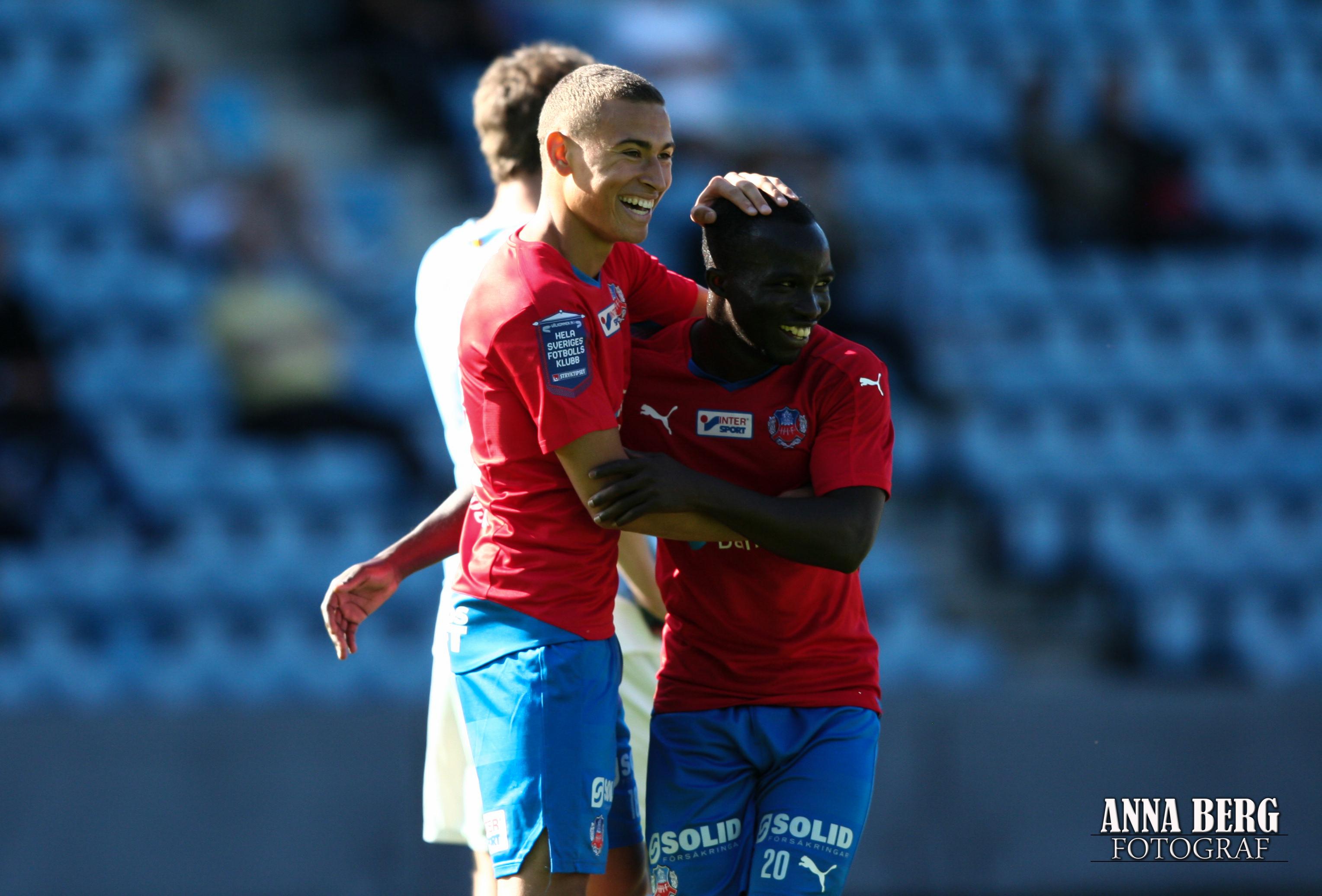 Jordan och Ema firar segern i Skånederbyt Foto: Anna Berg