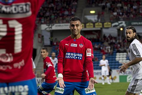 Khalili var tillbaka i startelvan och kom än en gång med i målprotokollet. Foto: Bjarki Tordarson